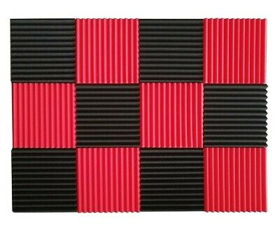 12 Pcs Acoustic Panels Soundproofing Foam Acoustic Tiles Studio squares wall