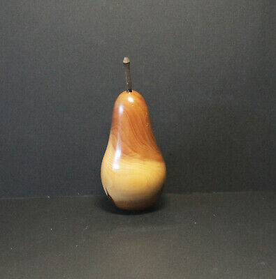 Handcrafted Wooden Pear Ornament #2, Vintage Collectable