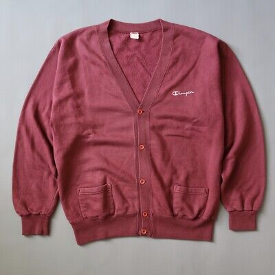 Vintage Champion Sweater Cardigan Made In Italy Size Large