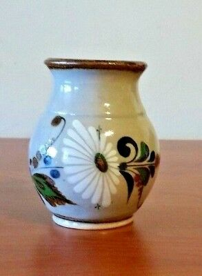 Mexican Hand Painted Pottery Small Vase Made in Mexico   A1