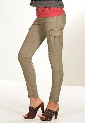 Laura Scott Cargo Hose Gr.34-42 NEU Slim Fit Grau Damen Bikerstyle Stretch L32