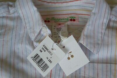 """BONPOINT  Baby Boy's """"Malo"""" Pure Cotton Shirt Age 6 Months. NEW"""