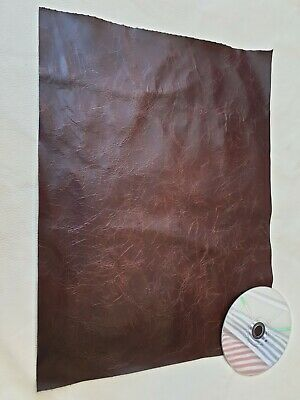 Brown Vintage Aged 40cm x 30cm 100% leather offcuts craft Patch Repair Upcycle
