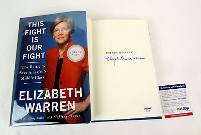 Elizabeth Warren 2020 Signed Autograph This Fight Is Our Fight Book PSA/DNA COA