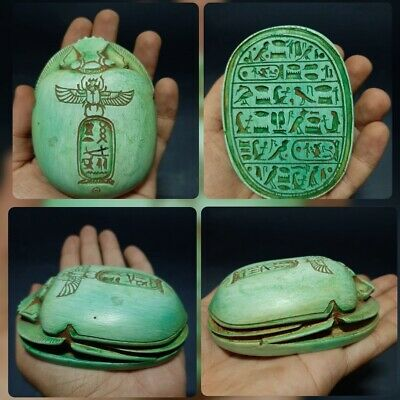 Rare ANCIENT Egyptian ANTIQUES Scarab Beetle Khepri Good Luck 1540-1160 BC