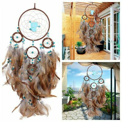 Dream Catcher Feathers Car Home Wall Hanging Decoration Ornament Gift Brown