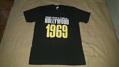 Quentin Tarantino Once Upon A Time In Hollywood Shirt Mens Size L BRAND NEW