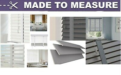 Made To Measure Faux Wood Venetian Wooden Window Blinds 50Mm Slats With Tape