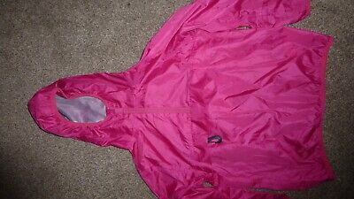 NEXT GIRLS 6 years HOT PINK CAG IN A BAG CLIP - PAC AWAY FOLDABLE MAC RAINCOAT