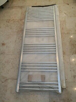 Eastbrook Wendover straight multirail 1600x600 chrome towel rail radiator