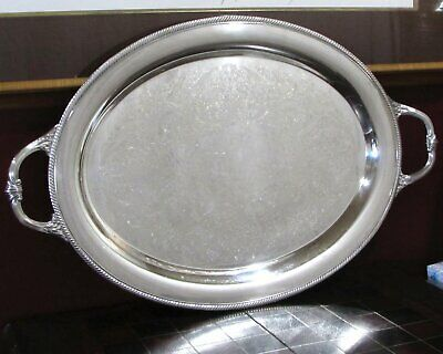 Castleton International Silver Large Silverplate Oval Waiters Tray 15x24""