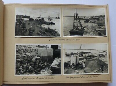 Album Photos + photos années 1950s construction du Port de Douala - Cameroun