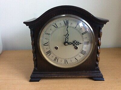 Antique Smiths Wooden Chiming Mantle Clock