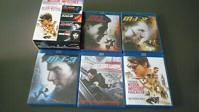 COFFRET 5 BLU RAY MISSION IMPOSSIBLE MI 1/2/3/4/5  ROGUE NATION ... Comme neuf