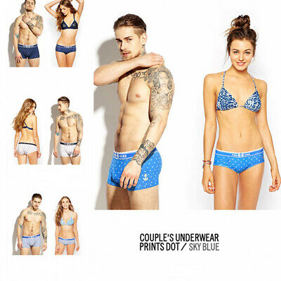 Sexy Lovers Underwear Fashion Couple's Soft Underpants Briefs Trunks Dot Prints