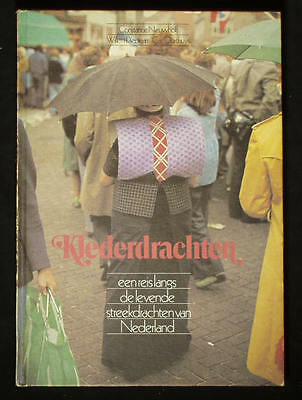 BOOK Dutch Folk Costume Netherlands ethnic fashion lace cap Zeeland Volendam old