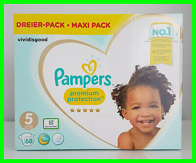 68 COUCHES PAMPERS PREMIUM PROTECTION TAILLE 5 (11-16 kg)