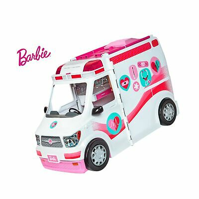 Barbie FRM19 Careers Care Clinic Ambulance, Play, Role Model, Lights and Soun...