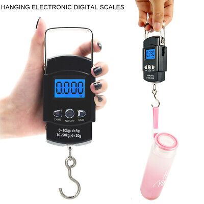 50KG Digital Hanging Luggage Scale Weigher Travel Suitcase Bag Electronic Weight