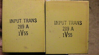 Western Electric 289A 1V55 PAIR input transformers