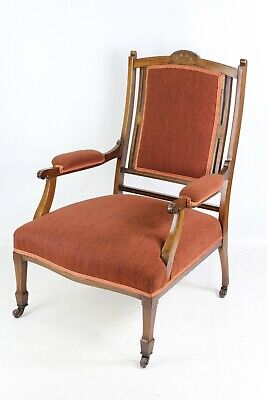 Antique Victorian Rosewood Armchair - Small Reading Library Bedroom Hall Chair