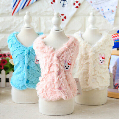 Fur Pet Dog Jacket Winter Luxury Small Cat Puppy Clothes Poodle Apparel Coat New