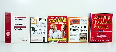 Lot of 5 books Investing Make Money Flipping Stock Market Real Estate -VERY GOOD