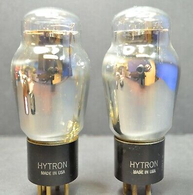 New Testing Hytron By Nu 46 Match Pair - Tetrode/Triode 45 Type Dht - Same Year