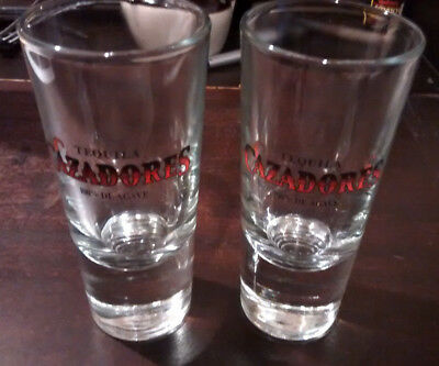 Cazadores Tequila Agave Heavy Double or Triple Shot Glasses