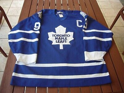 detailed pictures b2be5 c22c6 CCM CENTER ICE Doug Gilmour Toronto Maple Leafs Authentic Hockey Jersey 52  vtg