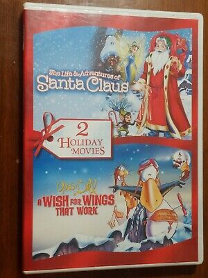 Christmas DVD / 2 movies Adventures of Santa Claus & A Wish for Wings That Work