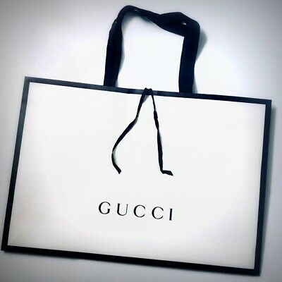 GUCCI SHOPPER, BORSA di CARTA, SACCHETTO, BUSTA REGALO cm48x36x8prof GIFT BAG 🎁