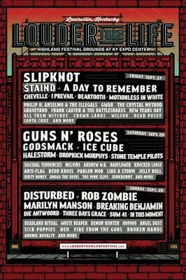 Louder Than Life Music Festival 3 Day Pass General Admission Tickets (September