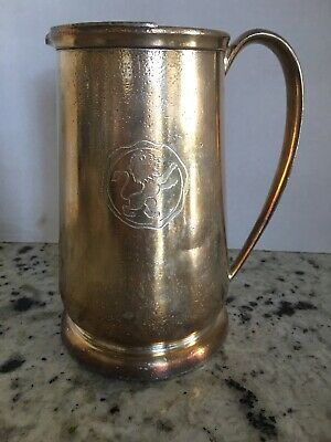 Carriage House Hotel Silver Plated Pitcher with Lion Emblem