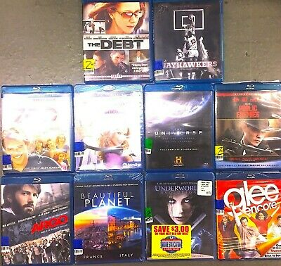 Blu-Ray Movies 30 Lot Used Assorted Popular Blu-ray 30 Bulk Wholesale High MSRP