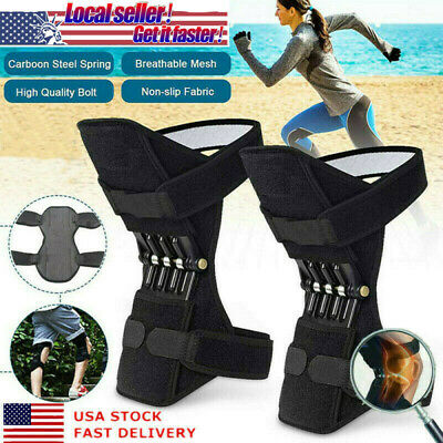 1pair Power Knee Stabilizer Pad Lift Joint Support Powerful Rebound Spring Force