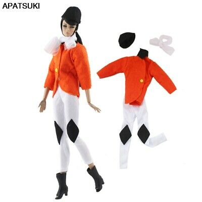 """1set Fashion Doll Clothes For 11.5"""" Doll Cosplay Riding Costume Coat Pants 1/6"""