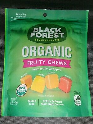 6 PACK BLACK Forest Organic Fruity Chews Candy 6x 8oz Bags