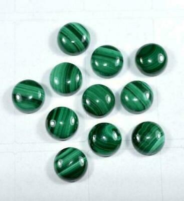 7X7 MM Natural Top Malachite Round Cabochon Loose Gemstone BB-70
