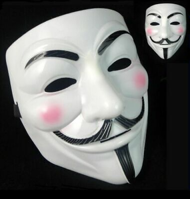 Anonymous Hacker Vendetta Face Mask Adult Halloween Fancy Dress Scary Party Lot