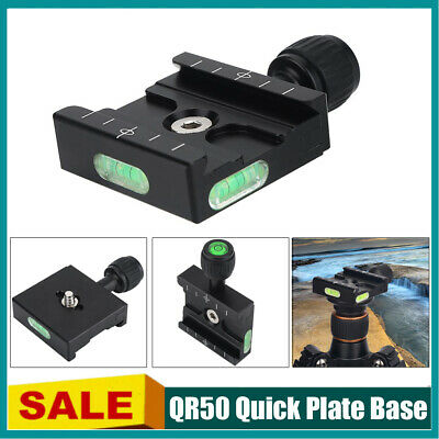 Metal Clamp Fr QR50 Quick Release Plate Compatible Arca Swiss Tripod Ball Head B