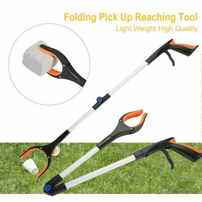 Hot Foldable Garbage Pick Up Tool Grabber Reacher Stick Reaching Grab Claw KU