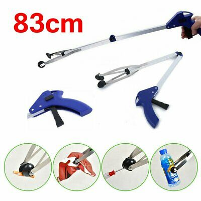 New Grabber Claw Reacher Gripper Foldable Extend Trash Rubbish Pick Up Tool KU