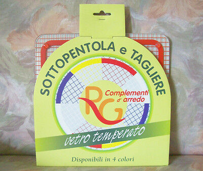 Tagliere & Sottopentola Italy Cutting Edge & Casserole Standing Rosso Red