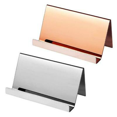 Stainless Steel Business Name Card Holder Display Stand Rack Desktop Organizer