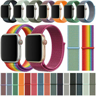 Sports Loop Band for Apple Watch Nylon Strap for iWatch to fit Series 5 4 3 2 1