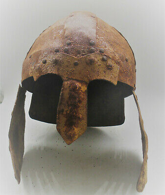 Extremely Rare Ancient Viking Nordic Iron Warrior Battle Helmet Circa 900-1000Ad