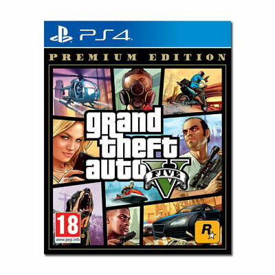 Videogioco PS4 GTA Grand Theft Auto 5 Sony PlayStation 4 PREMIUM EDITION Nuovo