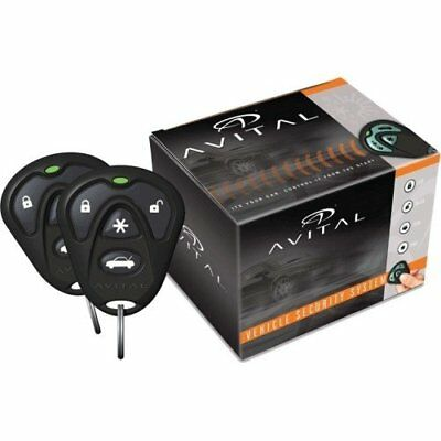 Avital 3100LX 3-Channel Keyless Entry Car Alarm with Remotes and Failsafe Sta...