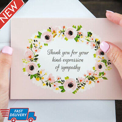 Funeral Thank You Cards 25 Count Sympathy Acknowledgement Notes Personalized NEW